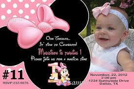 minnie mouse birthday invitations personalized blueklip