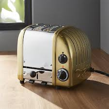 Dualit Toaster Timer Switch Dualit Newgen 2 Slice Brass Toaster Crate And Barrel