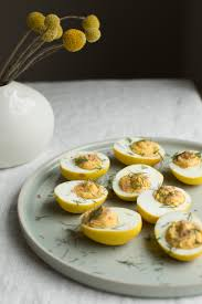 turmeric and cabbage pickled deviled eggs for easter u2014 linda campos