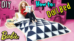 how to make barbie doll bed holiday craft diy dollhouse