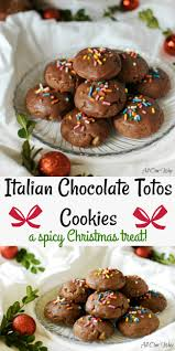 italian chocolate toto cookies traditional christmas treat