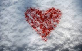 feb 14 valentines day wallpapers heart on the snow on valentine u0027s day february 14 wallpapers and