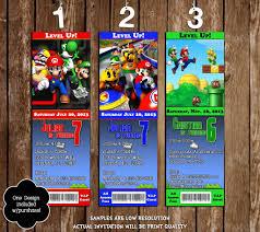 novel concept designs super mario bros ticket video game