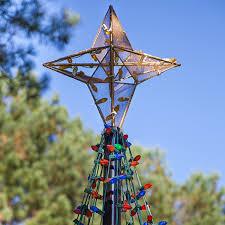 ebay outdoor xmas lights diy christmas ideas make a tree of lights using a basketball pole