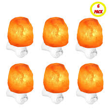 himalayan salt lamp night light 12 oz natural rock ul listed 6
