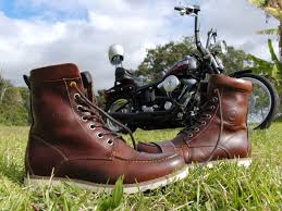 red motorcycle shoes revit mohawk boot redwing 875 moccasin toe topsider steve mcqueen