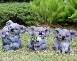 creative resin swing koala figurine crafts garden decoration