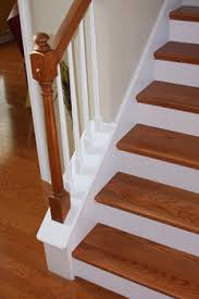 Oak Banister Rail White Risers For Your Staircase