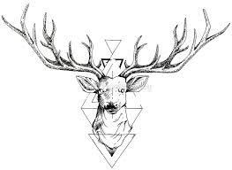 noir désir gravure pinterest geometric deer