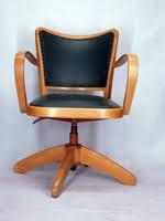 fauteuil bureau vintage chaise a accoudoirs fauteuil bureau tournant 1950 vintage