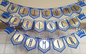 prince themed baby shower royal blue and gold prince baby shower banner prince themed