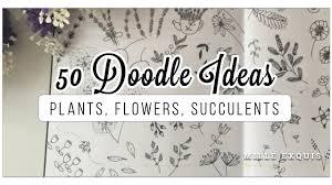 bullet flowers 50 bullet journal doodle ideas best easy plants flowers cacti