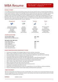 mba resume template student entry level mba resume template
