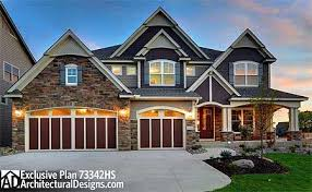 craftsman 2 story house plans 4 bed craftsman plan 73342hs exclusively available at