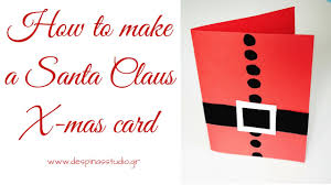 diy card santa claus card tutorial