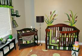 Frog Baby Bedding Crib Sets 10pc Frog Nursery Crib Bedding Set Brown Green Pollywog Pond