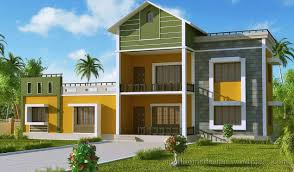 Small Efficient Home Plans Cool Colorful Exterior Home Design With Three Levels Part Of
