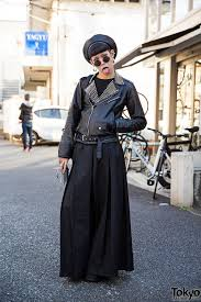 leather biker style boots leather jacket tokyo fashion news part 4