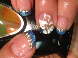 french mani with flower nail design cheapyummyshiny