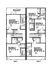 Colonial House Floor Plans by Witherspoon Southern Duplex Plan 093d 0001 House Plans And More