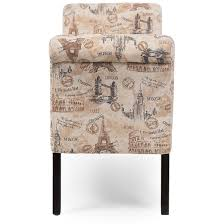 avignon towers patterned french laundry fabric storage ottoman