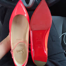 louboutin red sole care