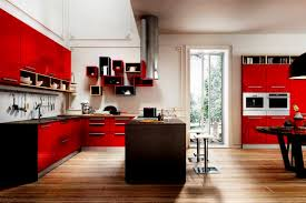 kitchen room charming modern minimalist red kitchen pantry