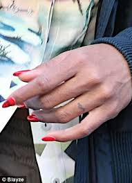Wedding Ring Finger by Kelly Rowland Reveals Tiny Tattoo On Her Wedding Finger As She