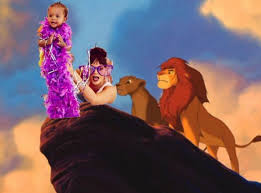 Lion King Meme - rihanna memed herself into this lion king scene and it was amazing
