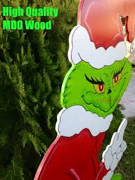 christmas grinch stealing christmasghts pattern outdoor