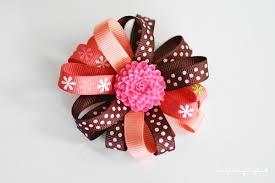 hair bow ribbon diy flower loop hair bow tutorial