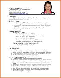 Sample Resume Format Basic by Resume Format Application Sop Proposal