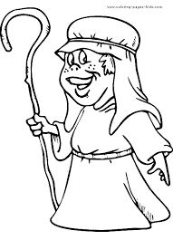 shepherd color page bible story color page coloring pages for
