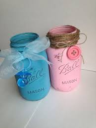 jar baby shower centerpieces boy or girl baby shower jars diy jar