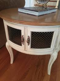 French Country Table by French Provincial End Table Round End Table Painted Furniture