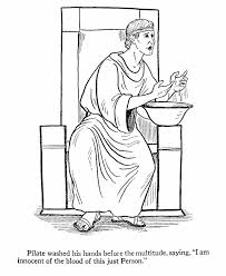 easter bible coloring page pilate washing his hands