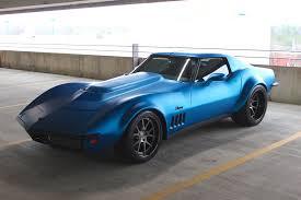 chris brown corvette pics matte blue 1969 corvette stingray on forgeline wheels