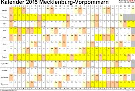 Kalender 2018 Mv Kalender 2015 Mecklenburg Vorpommern Ferien Feiertage Excel