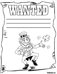 free irish coloring pages az pages shamrock for leprechaun