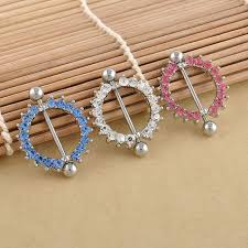 girls nipple rings images Buy 1 pcs rhinestone nipple piercing fashion body jpg