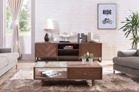 Vig Furniture Houston by Chevron Modern Walnut Tv Stand