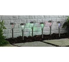 Colour Changing Solar Garden Lights - buy collection glass colour change solar lights set of 6 at