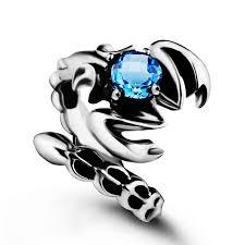 men u0027s sterling silver vintage gemstone scorpion ring topaz