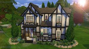Tudor Style Cottage The Sims 4 Speed Build Tudor Home Youtube