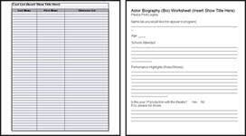 rehearsal report template theatre templates forms and documents