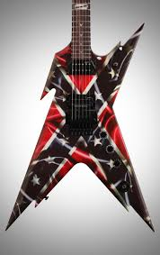 Rebel Flag Gear Dean Dimebag Razorback Guitar Zzounds
