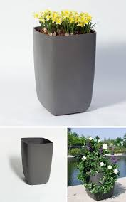 samurai tall outdoor planter pot with rounded corners nova68