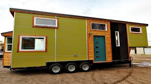 gooseneck trailer tiny house two sleeping lofts large one wall
