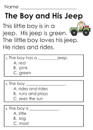 kindergarten guided reading comprehension passages and questions