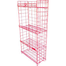 Metal Wire Storage Shelves Vintage 1970s Rare Industrial Tom U0027s Red Candy Display Mid Century